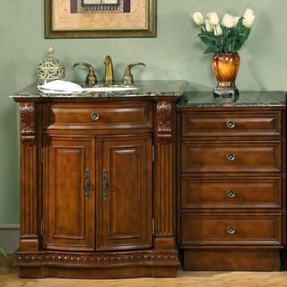 antique bathroom vanities. Silkroad Exclusive 53 inch Stone Counter Top Bathroom Vanity Lavatory  Single Sink Cabinet Antique Vanities Cabinets For Less Overstock com