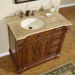 Silkroad exclusive 38 inch stone counter top bathroom for 1 inch granite countertops
