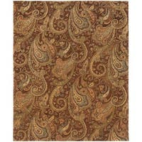 Evan Brown/ Gold Transitional Area Rug - 9'3 x 13'3