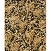 Evan Black/ Gold Transitional Area Rug - 9'3 x 13'3