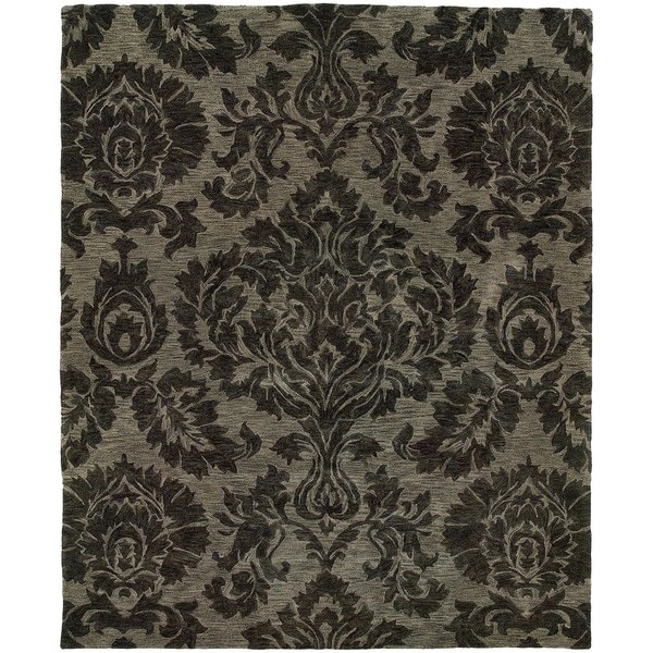 "Evan Gray/ Gray Transitional Area Rug (9'3 x 13'3) - 9'3"" x 13'3"""