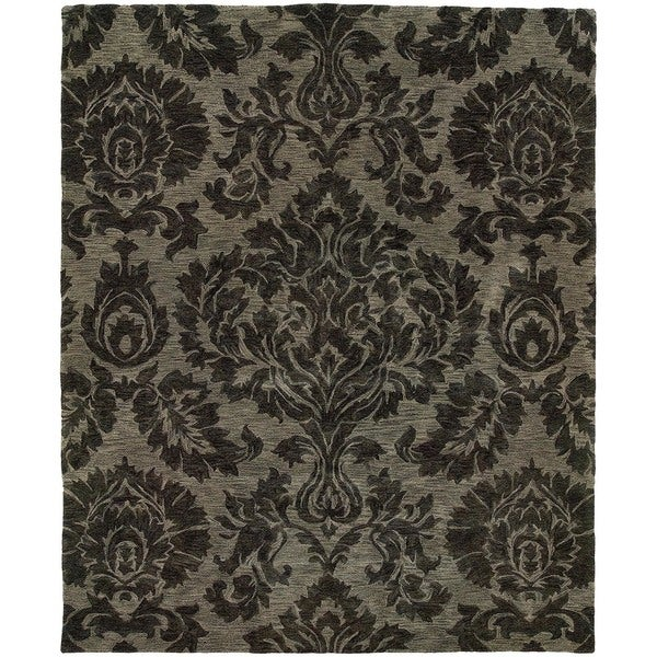 Evan Gray/ Gray Transitional Area Rug - 9'3 x 13'3