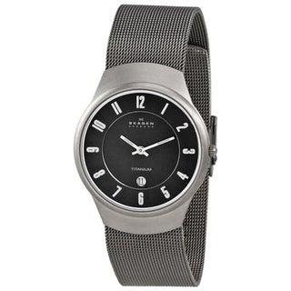 Skagen Men's Titanium Mesh Band Watch