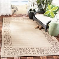 "Safavieh Courtyard Cream/ Light Chocolate Indoor/ Outdoor Rug - 6'7"" x 9'6"""
