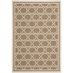 Safavieh Courtyard Poolside Brown/ Bone Indoor/ Outdoor Rug (6'7 x 9'6)