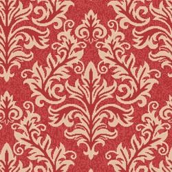 Safavieh Poolside Red/ Cream Indoor Outdoor Rug (4' x 5'7)