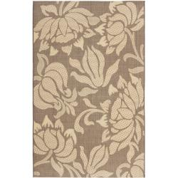 Safavieh Poolside Light Chocolate/ Cream Indoor Outdoor Rug - 8' X 11' - Thumbnail 0