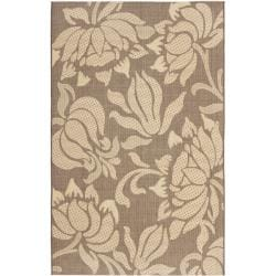 Safavieh Poolside Light Chocolate/ Cream Indoor Outdoor Rug - 8' x 11'2 - Thumbnail 0