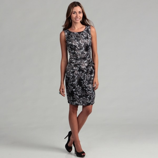 London Times Women's Floral Shutter Pleated Sheath Dress FINAL SALE