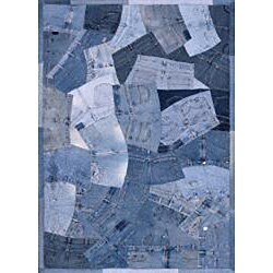 Beaufort Denim Blue Shorts Rug (7'6 x 9'6)