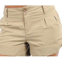 Stanzino Women's Khaki Summer Shorts