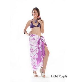 1 World Sarongs Women's Batik 3-row Hibiscus Sarong (Indonesia)