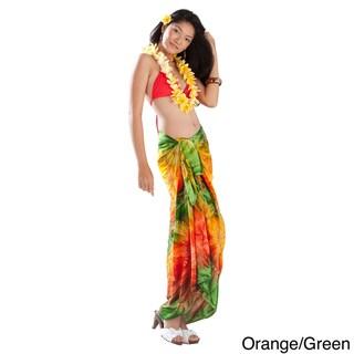 1 World Sarongs Women's Embroidered Tie Dye Sarong (Indonesia)