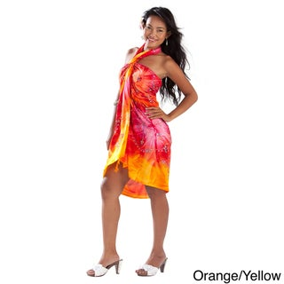 Handmade 1 World Sarongs Women's Embroidered Tie Dye Sarong (Indonesia)