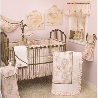 Pink Crib Bedding Set Lollipops and Roses 8-piece Set