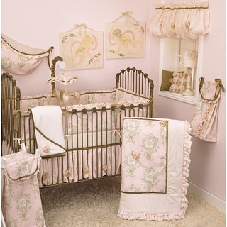 Pink Crib Bedding Set Lollipops and Roses 8-piece Set