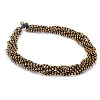 Handmade Thai-handicraft Goldtone Bead Cluster Necklace (Thailand)