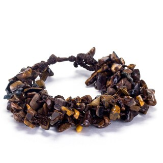 Thai-handicraft Tiger's Eye Cluster Bracelet (Thailand)