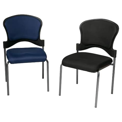 Upholstered Contour Back Armless Visitor Chair