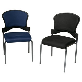 Office Star Upholstered Contour Back Armless Visitor Chair