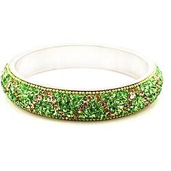 Olive Artisan Crystal Bracelet (India)