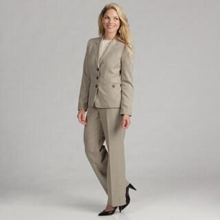 Evan Picone Women's 3-button Quicksand Pant Suit