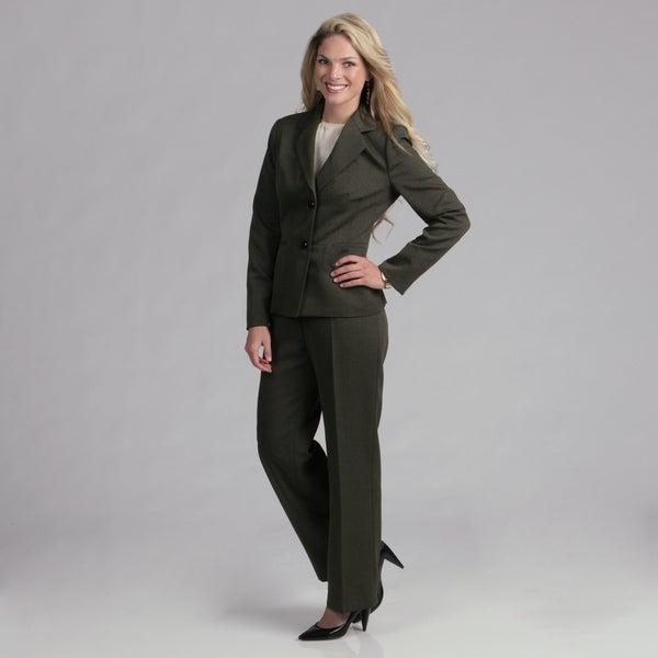 Evan Picone Women's Hunter 2-button Pant Suit