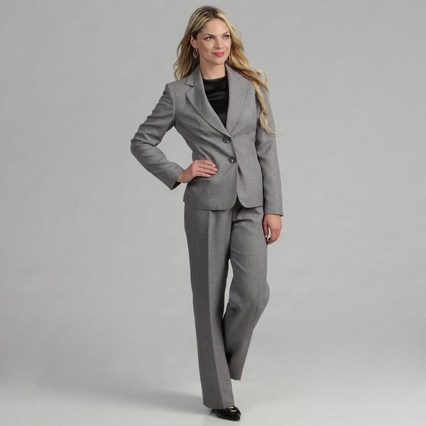 Evan Picone Women's 2-button Tweed Pant Suit