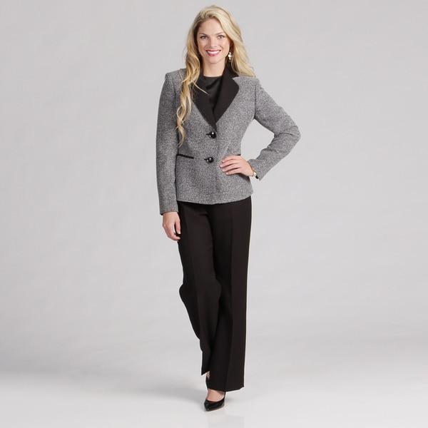 Evan Picone Women's 2-button Notch Collar Pant Suit