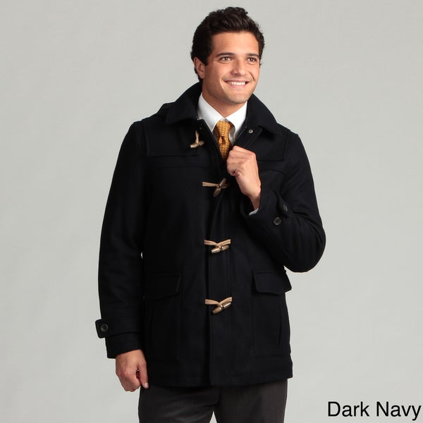 Nautica Men's Charcoal Wool Toggle Coat