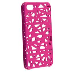INSTEN Pink Bird Nest Rubber Coated Phone Case Cover for Apple iPhone 4/ 4S - Thumbnail 1