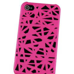 INSTEN Pink Bird Nest Rubber Coated Phone Case Cover for Apple iPhone 4/ 4S - Thumbnail 2