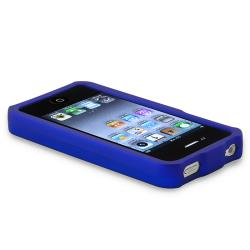 BasAcc Dark Blue Snap-on Rubber Coated Case for Apple iPhone 4/ 4S - Thumbnail 2