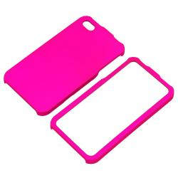 INSTEN Hot Pink Snap-on Rubber Coated Phone Case Cover for Apple iPhone 4/ 4S - Thumbnail 1