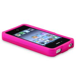 INSTEN Hot Pink Snap-on Rubber Coated Phone Case Cover for Apple iPhone 4/ 4S - Thumbnail 2