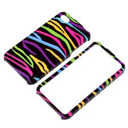 BasAcc Black Colorful Zebra Snap-on Case for Apple iPhone 4/ 4S