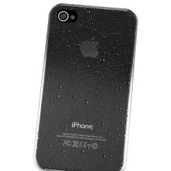 INSTEN Clear Smoke Water Drop Snap-on Phone Case Cover for Apple iPhone 4/ 4S - Thumbnail 2