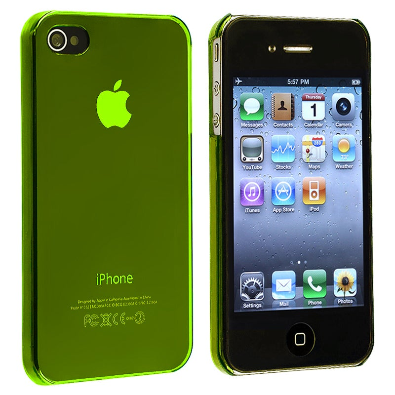 INSTEN Yellow Slim-fit Snap-on Phone Case Cover for Apple iPhone 4/ 4S