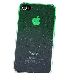 BasAcc Clear Green Water Drop Snap-on Case for Apple iPhone 4/ 4S