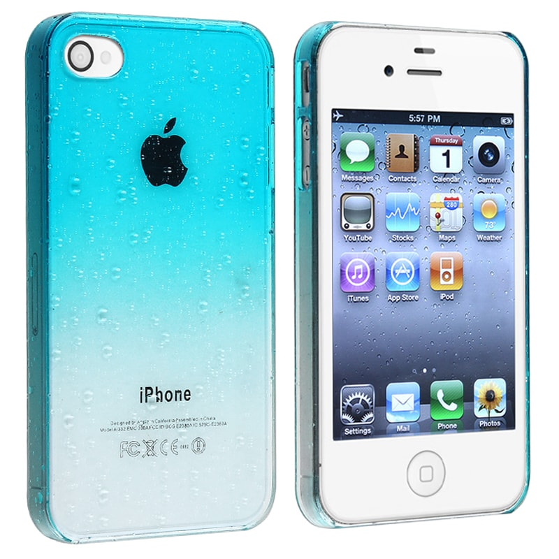 BasAcc Clear Sky Blue Water Drop Snap-on Case for Apple iPhone 4/ 4S - Thumbnail 0