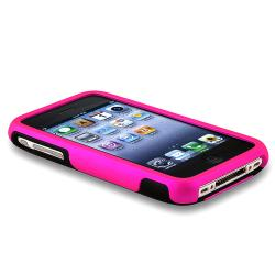 BasAcc Hot Pink/ Black Cup Shape Snap-on Case for Apple iPhone 3G/ 3GS - Thumbnail 2