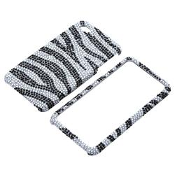 INSTEN Silver/ Black Diamond Snap-on Phone Case Cover for Apple iPhone 4/ 4S - Thumbnail 1