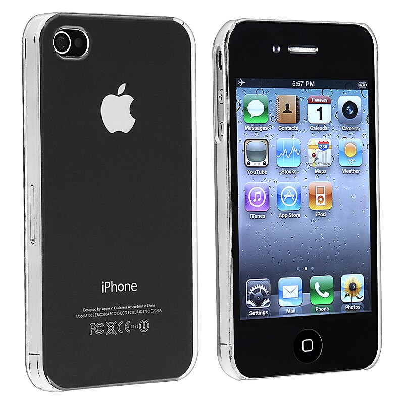 INSTEN Clear Rear Snap-on Crystal Phone Case Cover for Apple iPhone 4/ 4S