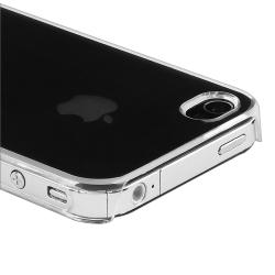 INSTEN Clear Rear Snap-on Crystal Phone Case Cover for Apple iPhone 4/ 4S - Thumbnail 2