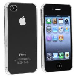 INSTEN Clear Rear Snap-on Crystal Phone Case Cover for Apple iPhone 4/ 4S - Thumbnail 0