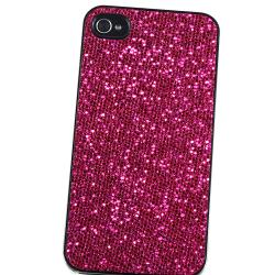 BasAcc Hot Pink Bling Snap-on Case for Apple iPhone 4/ 4S - Thumbnail 2