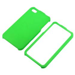 BasAcc Light Green Snap-on Rubber Coated Case for Apple iPhone 4/ 4S - Thumbnail 1