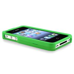 BasAcc Light Green Snap-on Rubber Coated Case for Apple iPhone 4/ 4S - Thumbnail 2