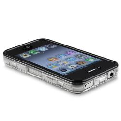 BasAcc Clear Snap-on Crystal Case with Cover for Apple iPhone 4/ 4S