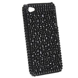 INSTEN Black Diamond Snap-on Phone Case Cover for Apple iPhone 4/ 4S - Thumbnail 1